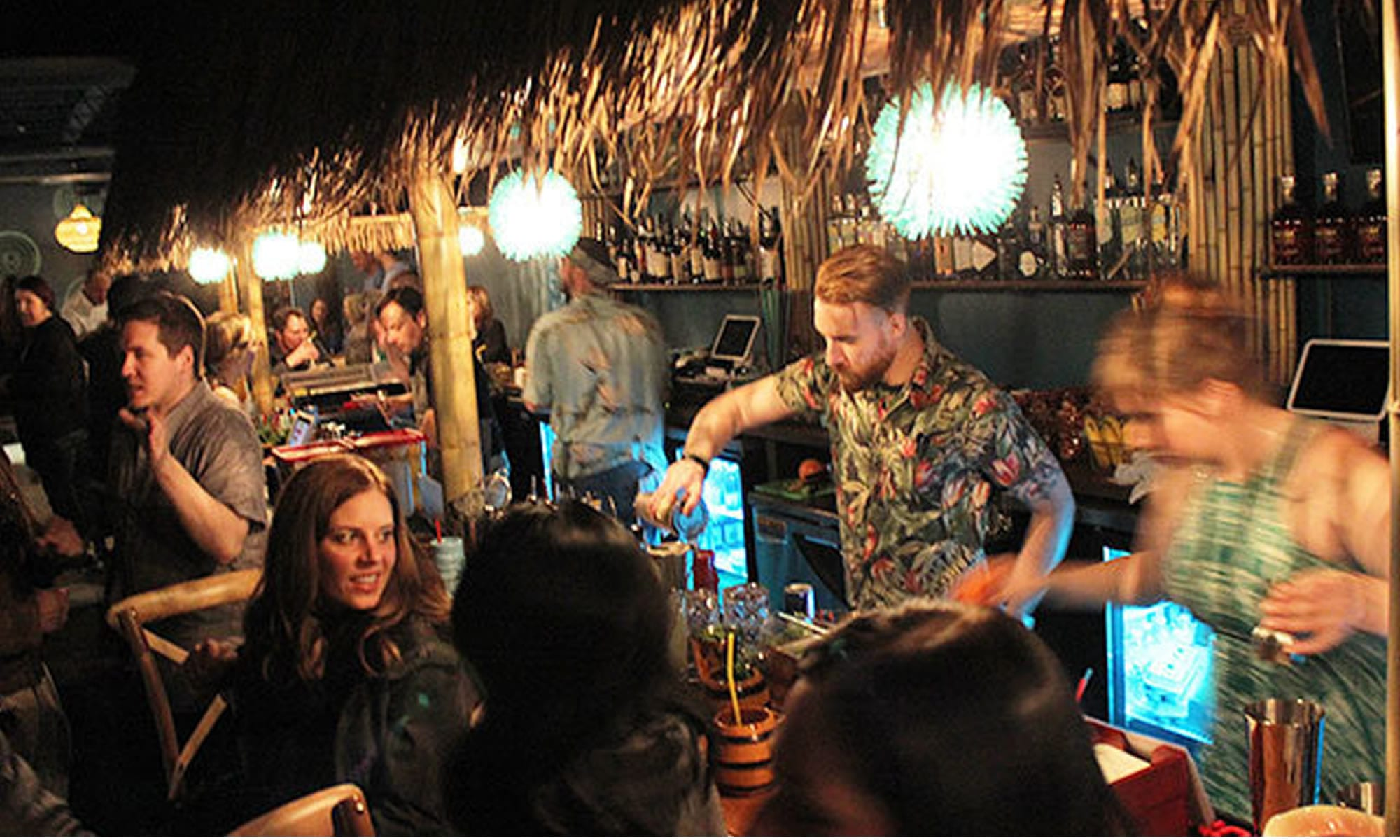 Busy Tiki Bar
